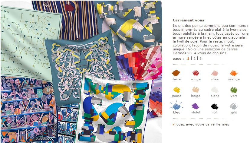 choix carré hermès 2013