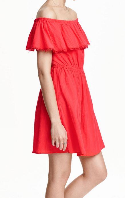 robe-epaule-nue-rouge