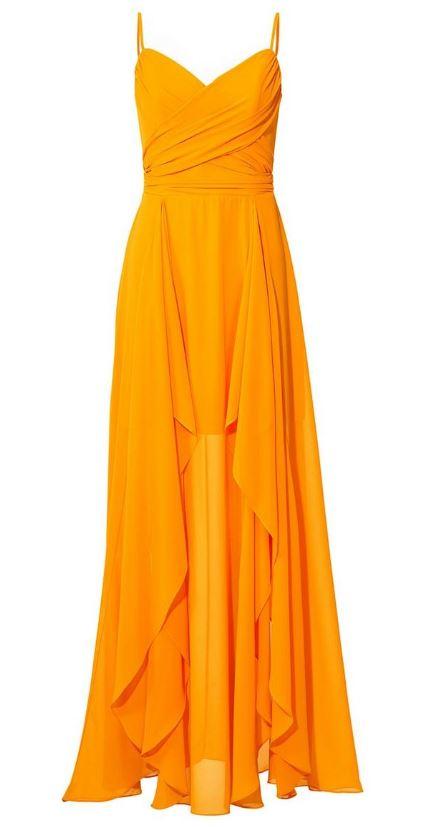 robe longue orange chez helline