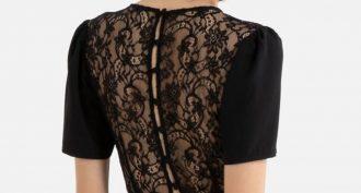 robe noire dentelle