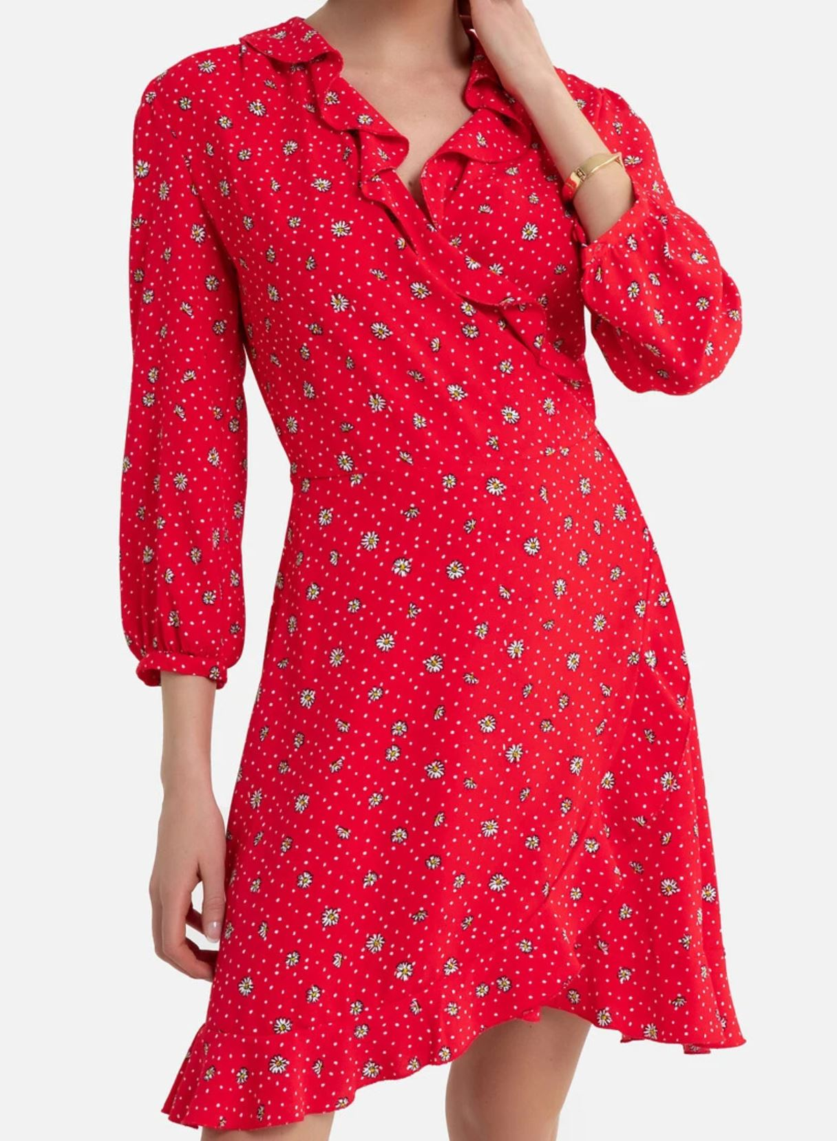 robe-rouge-volant-la-redoute-2020